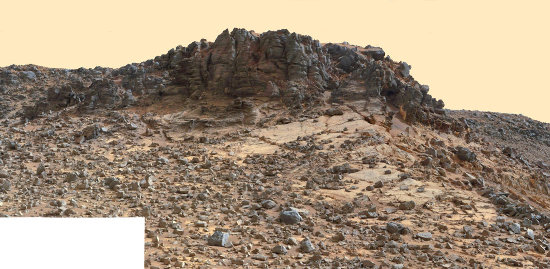 Le Salsberry Peak, sol 844 (21 décembre 2014)