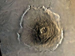 Vue générale d'Olympus Mons, Mars