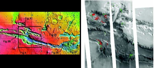 Localisation de sulfate dans Valles Marineris, Mars