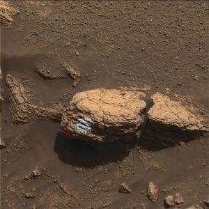 Image du stone mountain prise par la caméra panoramique d'Opportunity