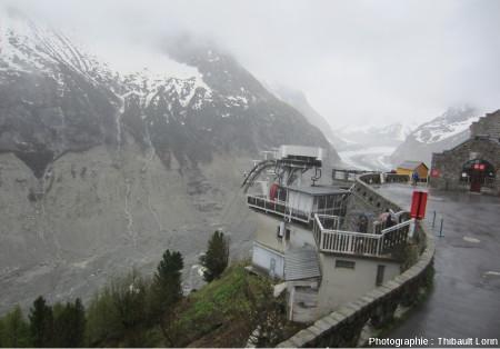 Télécabine permettant de descendre (presque) jusqu'au glacier