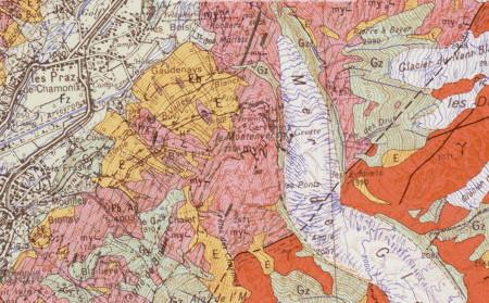 Lithologie de la Mer de Glace au niveau du Montenvers