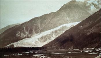 La Mer de Glace, vue depuis la vallée de Chamonix en 1854