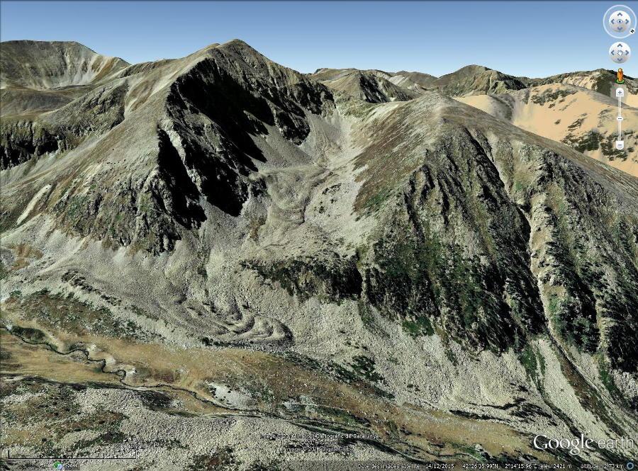 Exemple de glacier rocheux du Canigou