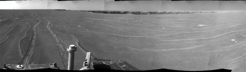 Opportunity quitte le cratère Victoria (diamètre de 750m)