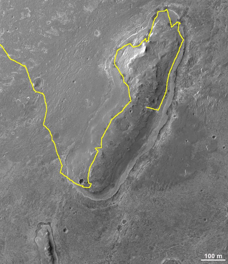 Carte du trajet d'Opportunity jusqu'au 17 septembre 2012