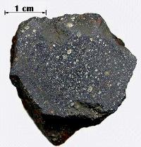 Fragment de la météorite de Murchison, la plus riche en matière organique des chondrites carbonées