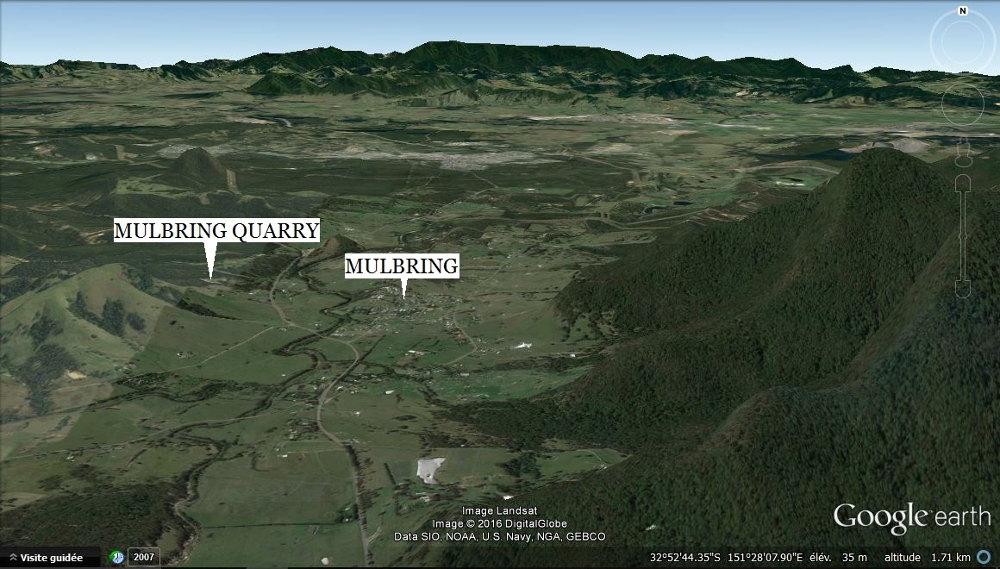 Vue de Mulbring et de sa carrière