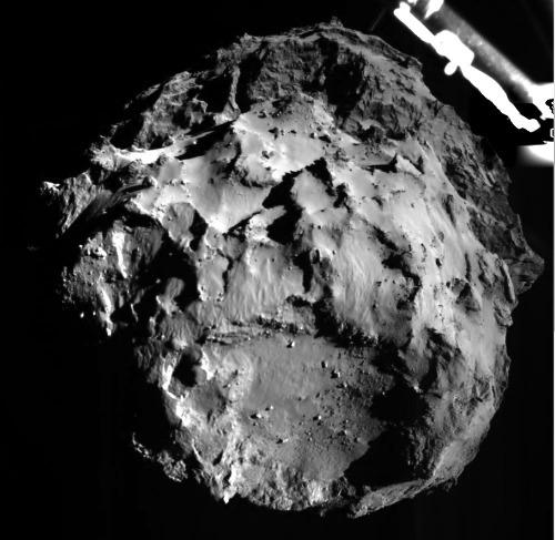 La comète 67P/CG vue depuis Philae au cours de son approche, 12 novembre 2014