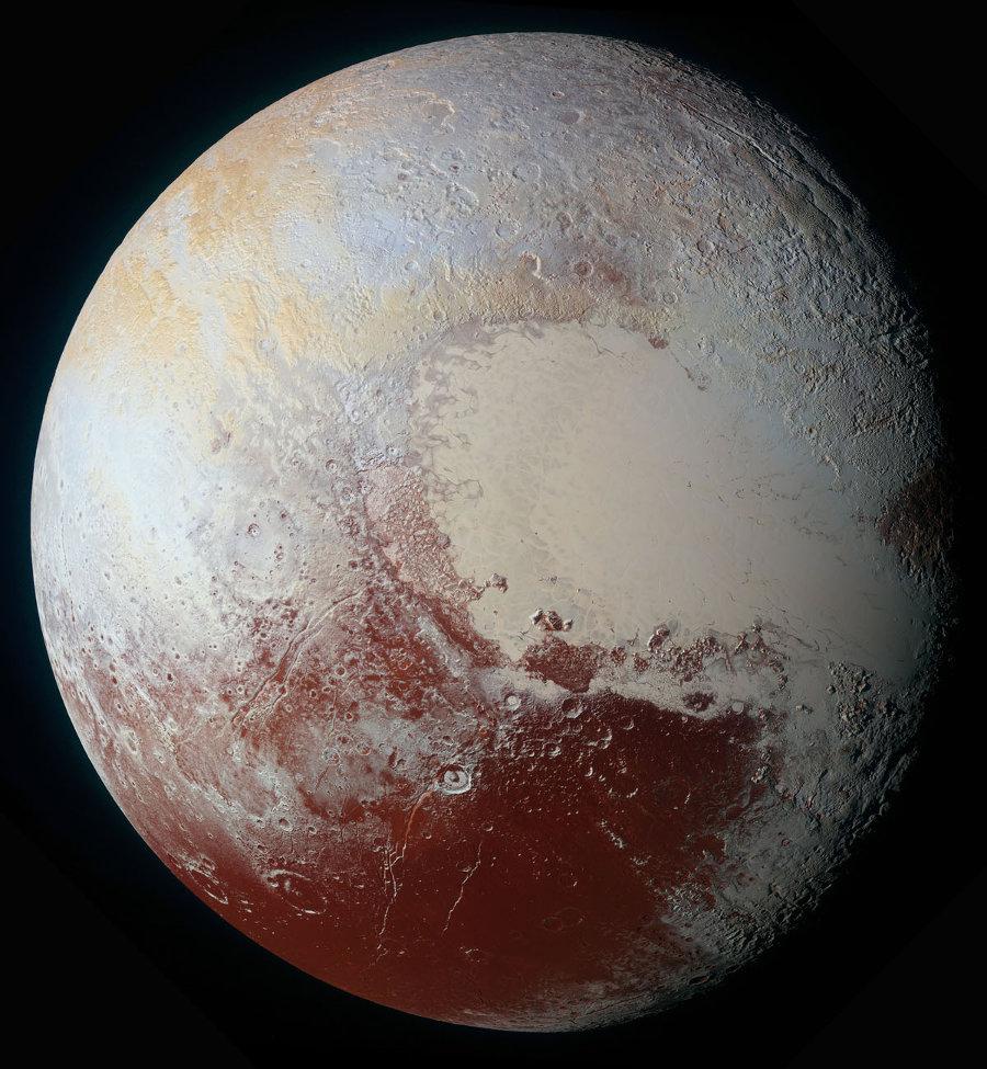 """Image """"basse résolution"""" de la mosaïque globale de Pluton"""