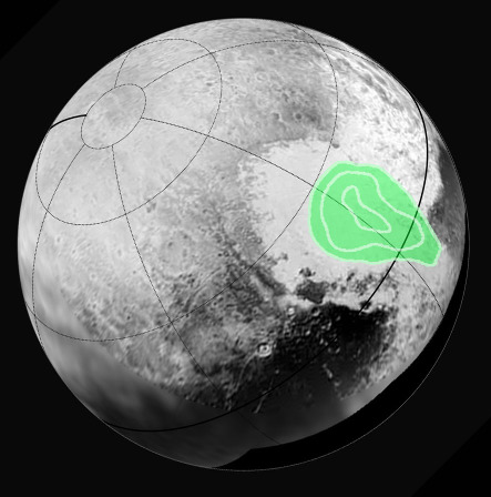 En plus d'être différente du reste de Pluton sur le plan morphologique et chronologique, Sputnik Planum est également différente sur le plan chimique