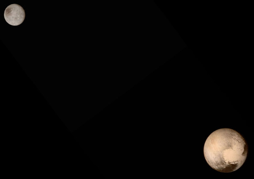 Le système Pluton-Charon vu par New Horizons lors de son passage des 13-14 juillet 2015