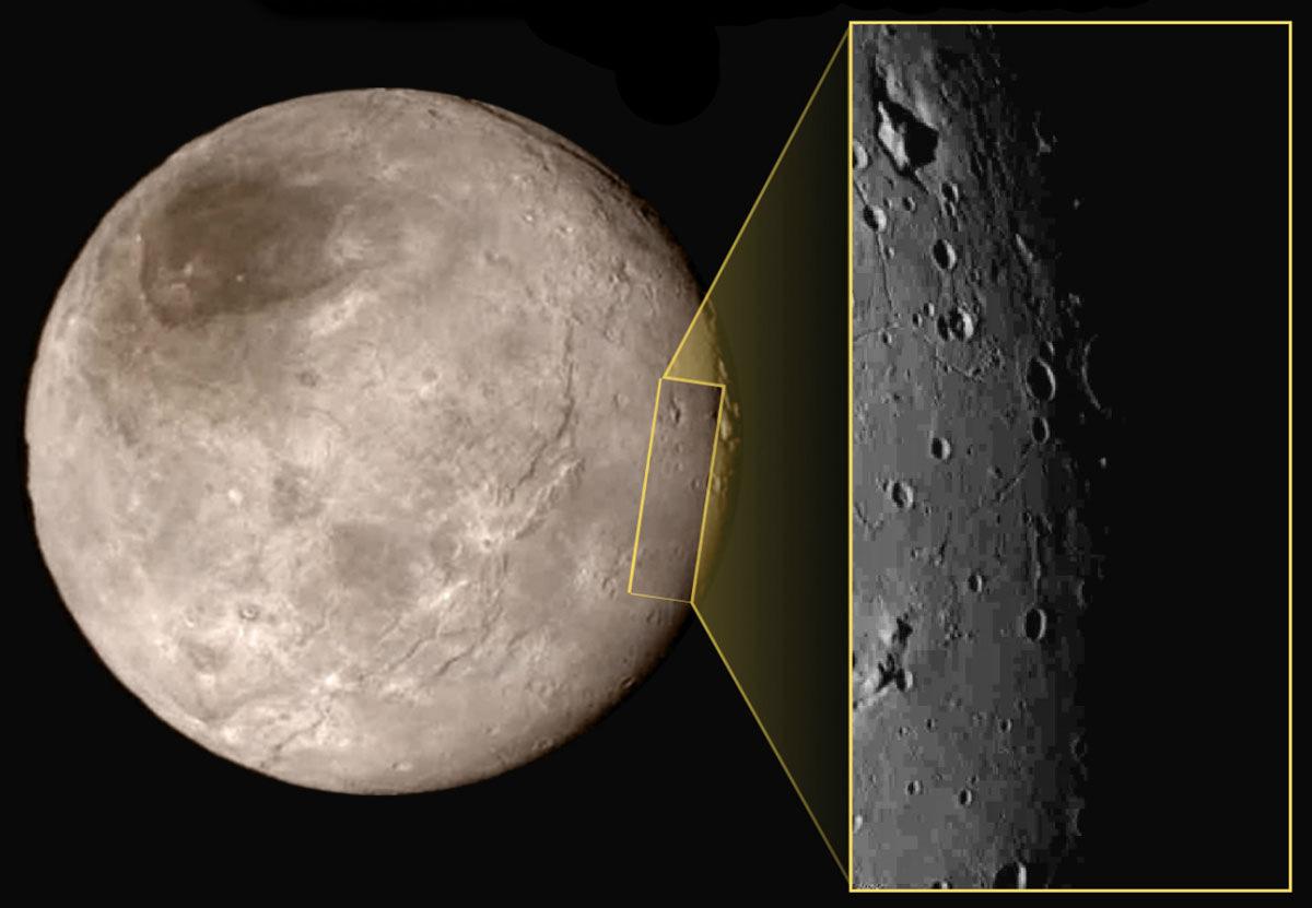 Zoom sur le terminateur de Charon