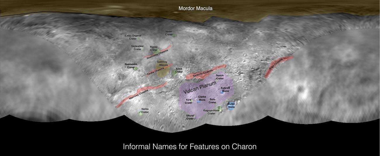 Planisphère annoté de Charon