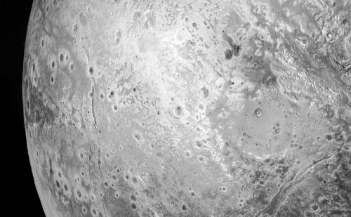 Zoom sur le secteur de gauche de la mosaïque de Pluton