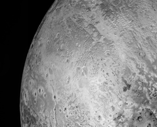 Zooms sur le secteur en haut à gauche ,de la mosaïque de Pluton