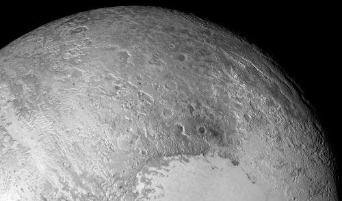 Zoom sur le secteur situé à l'Est et au Nord-Est de Tombaugh Regio, Pluton