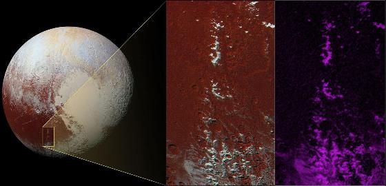 Pluton et sa bande sombre équatoriale