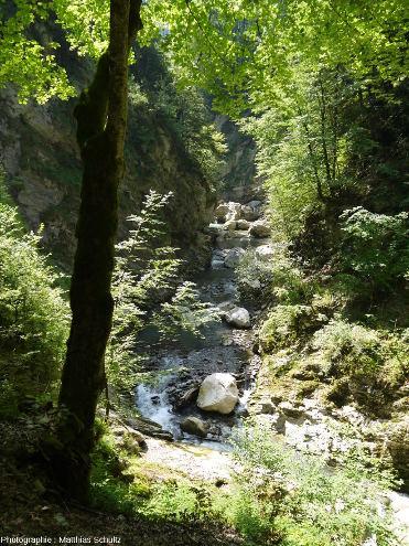 Vue de l'entrée amont des Gorges du Pont du Diable, La Vernaz, Haute-Savoie