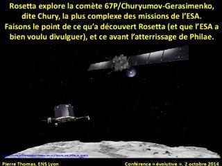 Diaporama de la conférence Rosetta explore Chury