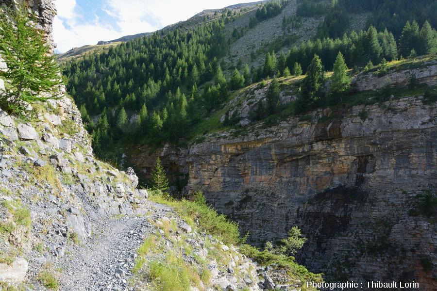 Au sommet des barres de calcaire tithonien de Roya