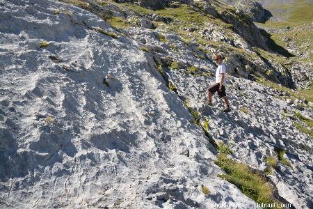 Lapiez en pointes, karst de Crousette (Alpes-Maritimes)