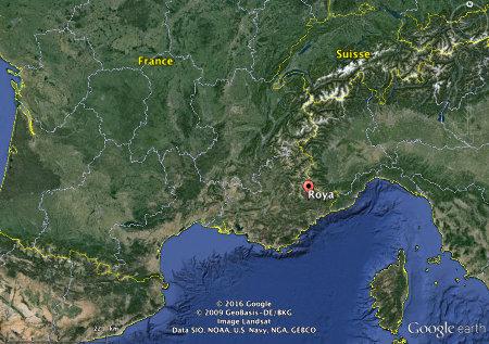 Localisation du hameau de Roya, Saint-Étienne-de-Tinée, Alpes-Maritimes