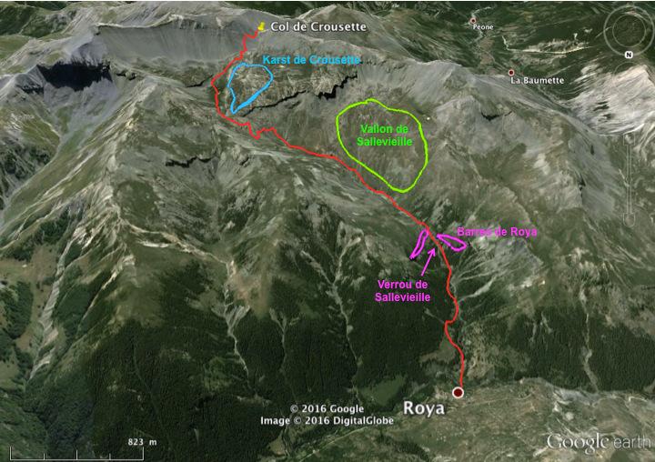 Bilan sur les unités morphologiques et géologiques observées le long de l'itinéraire