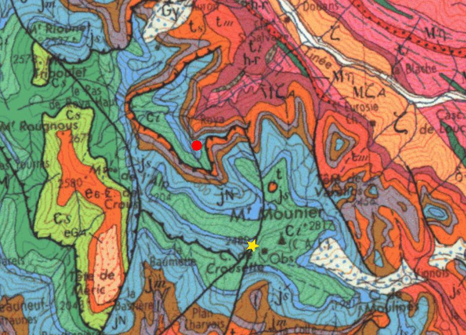 Géologie régionale... sans éboulis