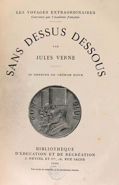 """""""Sans dessus dessous"""", Jules Verne"""