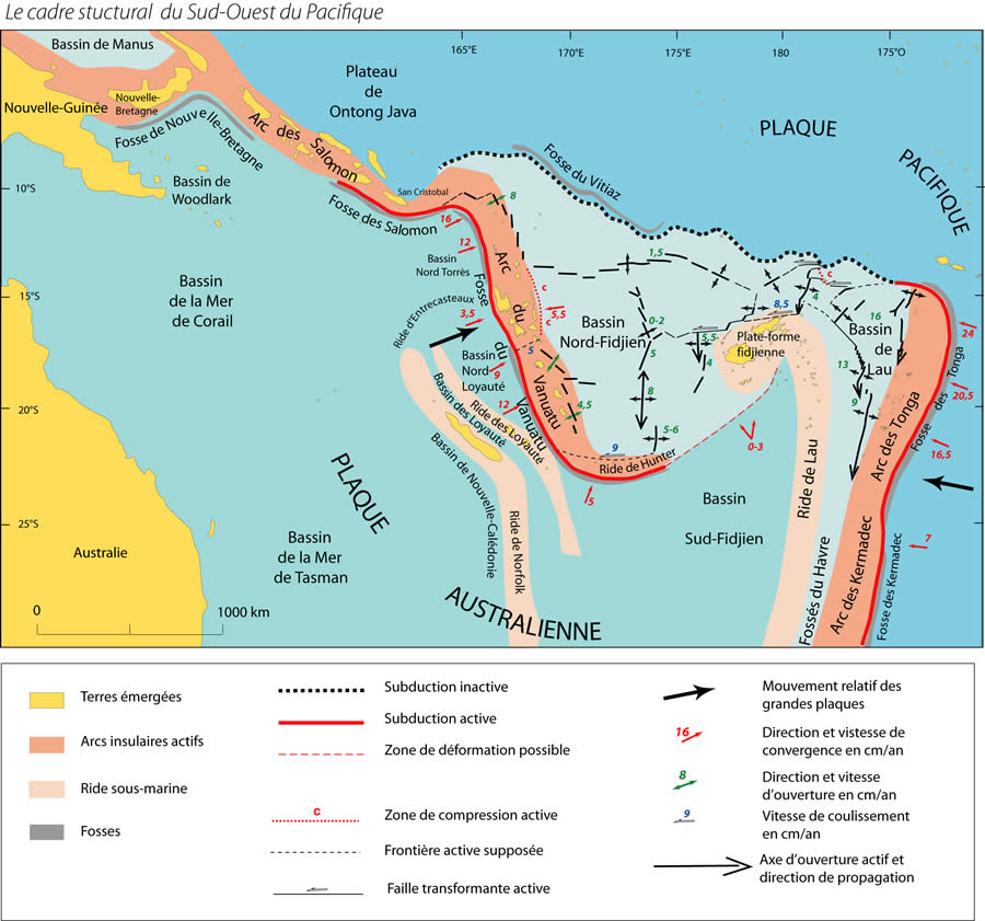 Cadre structural du Sud-Ouest du Pacifique