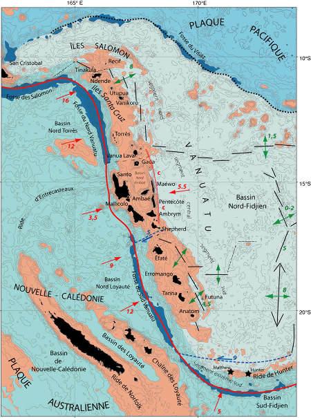 Cadre structural de la marge du Vanuatu