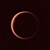 """Face """"nuit"""" de Titan, satellite de Saturne"""