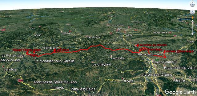 Le trajet de la 16ème étape, le 18 juillet 2017