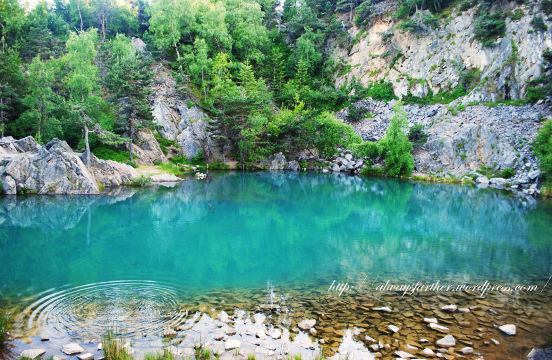 Le Lac bleu, à 500m de la D15, Les Balayés