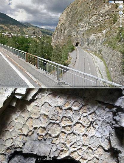 Le Tunnel de Prelles et ses fentes de dessiccations