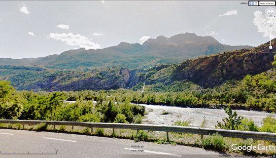 Le gouffre de Gourfouran vu depuis la route du Tour de France 2017