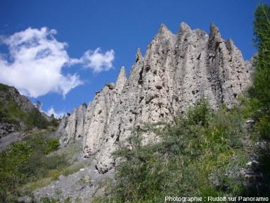 Les cheminées de fée de la montée du Col de Vars