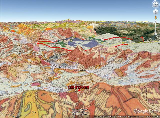 Vue vers le Nord avec le Col d'Izoard et la massif du Chenaillet en fond