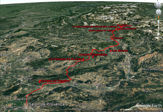 Le trajet de la 19ème étape, le 21 juillet 2017