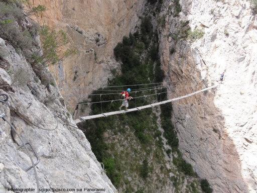 La via ferrata et le pont de singe de la Grande Fistoire