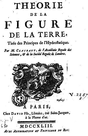 La Figure la Terre de Clairaut, page de titre