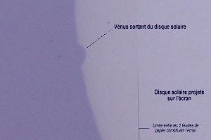 Sortie de Vénus du disque solaire