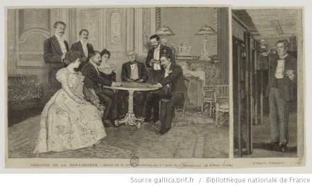Reproduction de scènes de la comédie Spiritisme de V. Sardou (1897)
