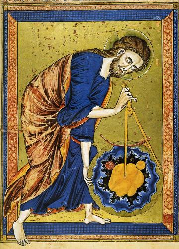 La Création du Monde dans la Bible moralisée (codex 2554) de Vienne, livre enluminé datant de la première moitié du XIIIe siècle