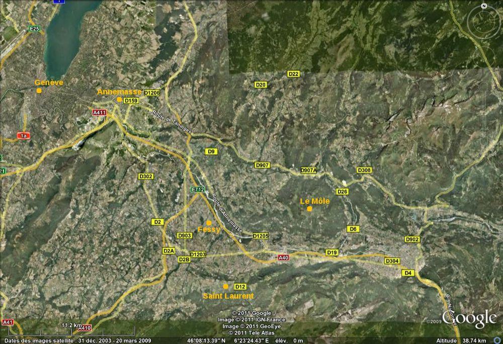 Localisation des sites de mesure.
