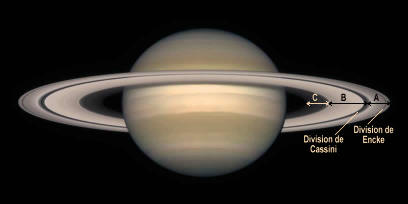 Saturne et ses anneaux vus depuis une orbite terrestre par le télescope spatial Hubble
