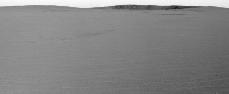 Paysage vu par Opportunity le 23 avril 2004