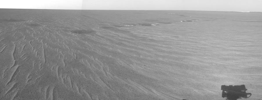 Dépressions rencontrées sur le trajet d'Opportunity entre le cratère Eagle et le cratère Endurance