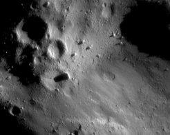 Vue d'Eros prise de 35 km d'altitude